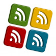 Rss icons — Foto de Stock