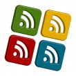 Rss icons — Stock Photo