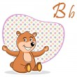 B for bear — Stock Photo