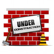 under construction&quot — Stock Photo