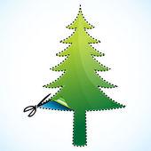 Taglio dell'albero di natale — Foto Stock