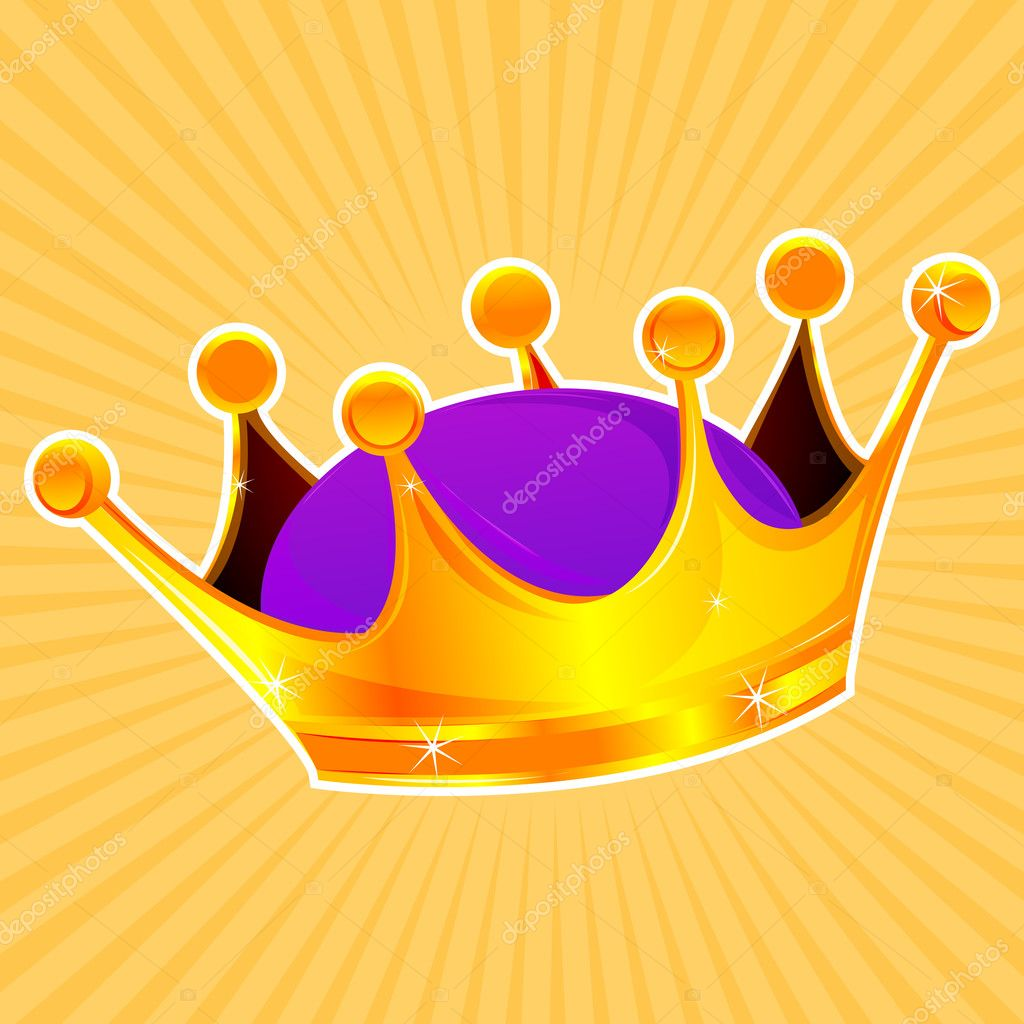 Illustration of golden crown  Stock Photo #4285029