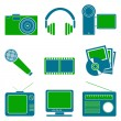 Entertainment symbols - Stock Photo