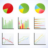 Different graphs — Stock Photo