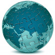 Earth jigsaw puzzle - Stock Photo