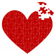 Heart jigsaw puzzle — Stock Photo