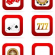 Illustration of different casino symbols on white background — Stock Photo