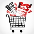 Sales trolley — Stock Photo