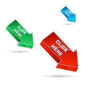 Colorful vector arrows — Stock Photo
