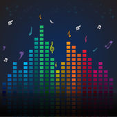 Colorful music card — Stock Photo