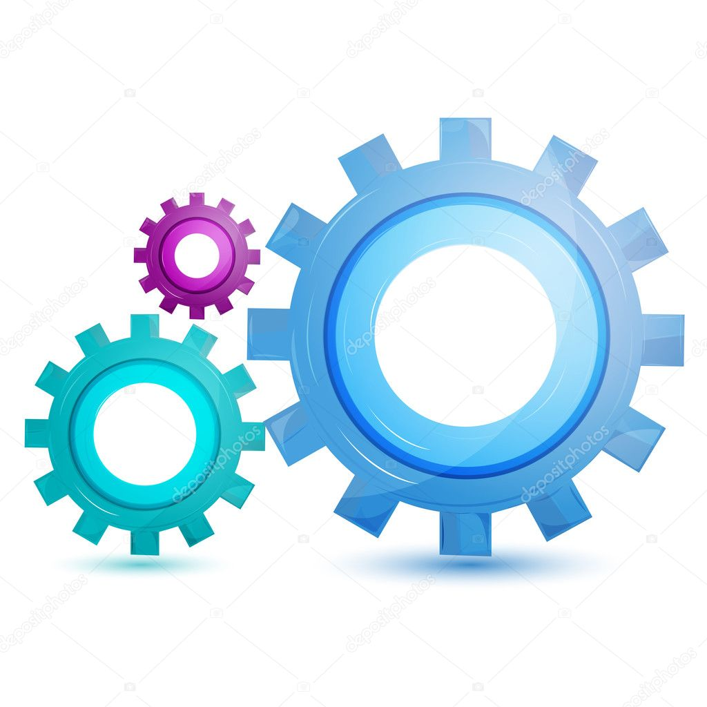 Illustration of gear tool on white background — Stock Photo #4309757