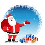 Santa in christmas card — Stock Photo