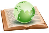 Globe on book — Stock Photo