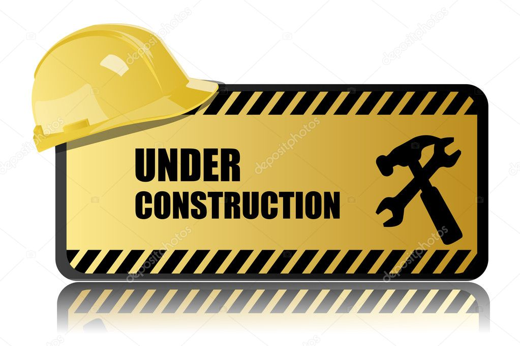 Illustration of under construction on white background — Stock Photo #4317211
