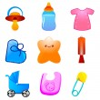Kids icons - Foto Stock