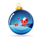 Merry christmas card with santa — Stock Photo