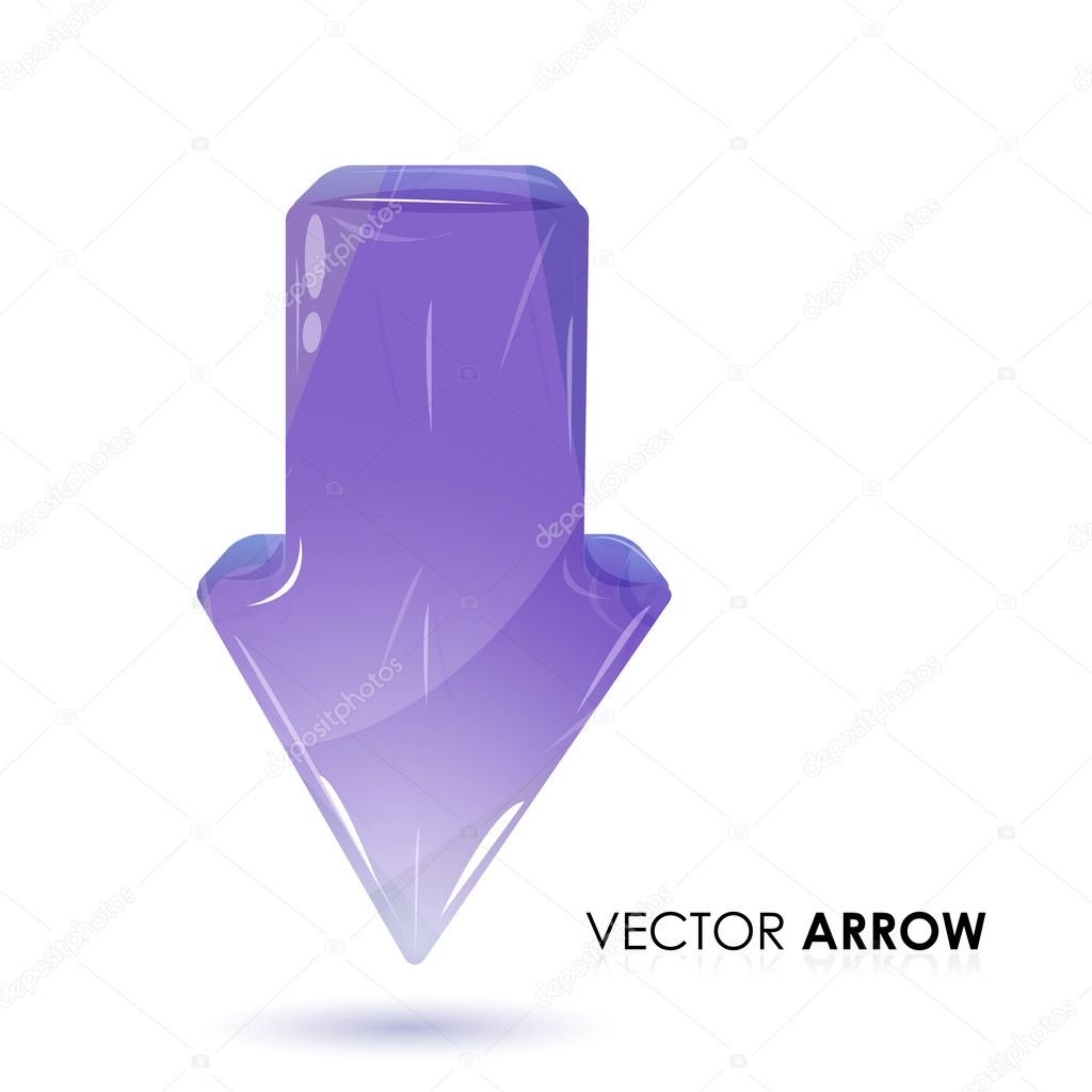Illustration of vector arrow on white background  Stock Photo #4327148