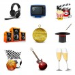 Stock Photo: Entertainment icons