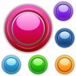 Multicolored buttons — Stockfoto