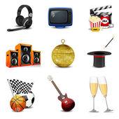 Unterhaltung-symbole — Stockfoto