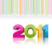 2011 new year card — Stock Photo