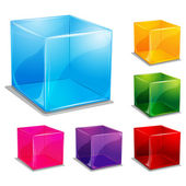 Colorful cubic vector background — Stock Photo