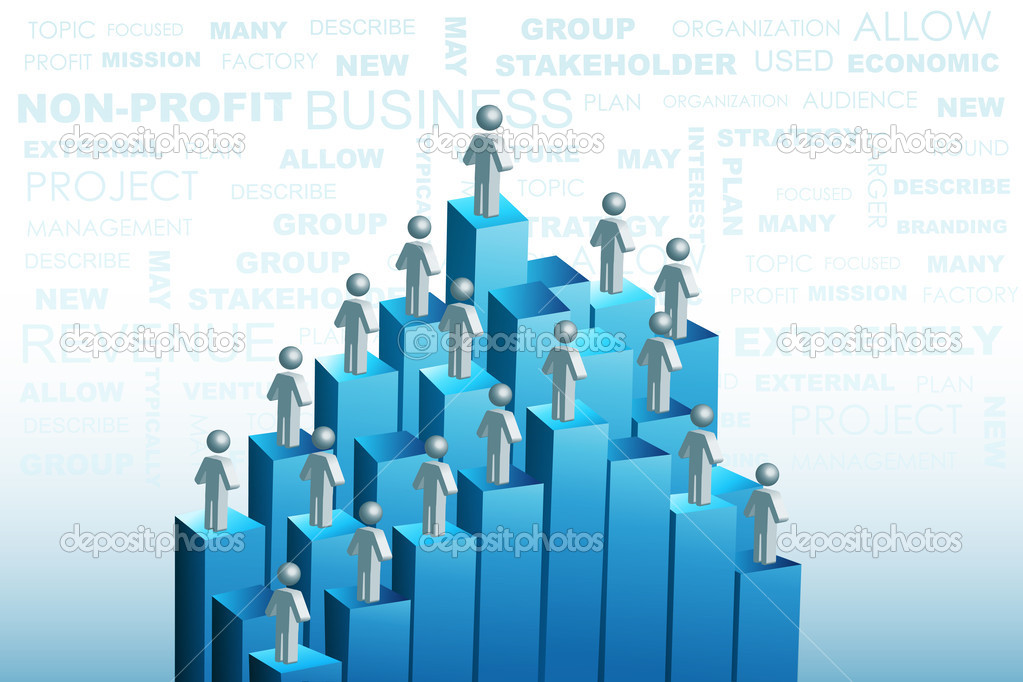 Illustration of organization structure — Stock Photo #4337176