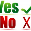 Yes and no — Foto Stock