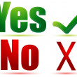 Yes and no — Stockfoto