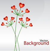 Vector background with heart plants — Stok fotoğraf