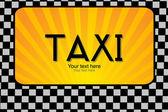 Taxi text — Stock Photo