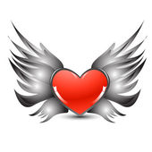 Flying heart — Stock Photo