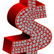 Diamond dollar icon — Stock Photo