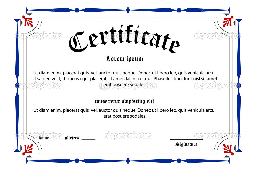 Illustration of education certificate on white background — Stock Photo #4360019