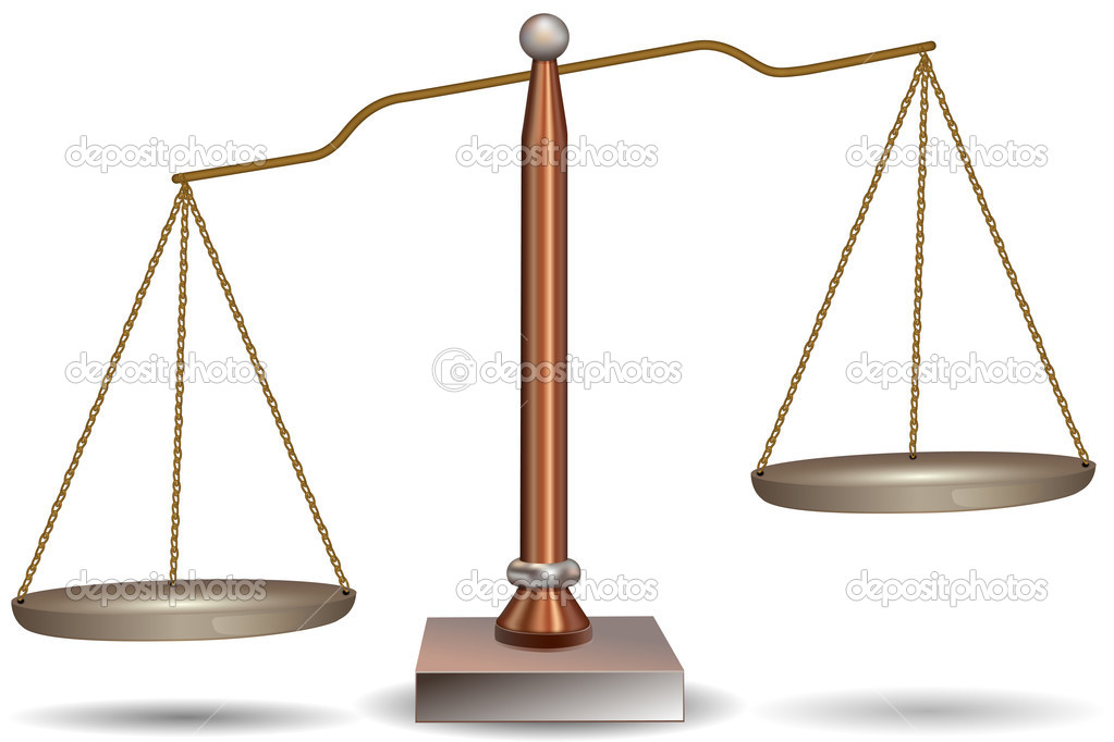 Unbalanced scales clipart