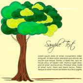 Carta della natura con albero — Foto Stock