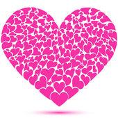 Many hearts forming a heart — Stock Photo