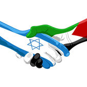 Peace between israel and palestine — Stock Photo