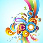 renkli tasarlamak vektör arka plan — Stok fotoğraf