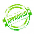 Approved seal — Foto Stock