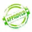 Approved seal — Stockfoto