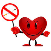 Devil heart with no smoking tag — Stock Photo