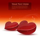 Cartolina di San Valentino con cuori — Foto Stock