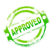 Approved seal — Stock Photo