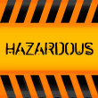 Hazardous icon — Stock Photo