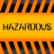 Hazardous icon - Stock Photo