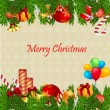 Colorful merry christmas card — Foto de Stock