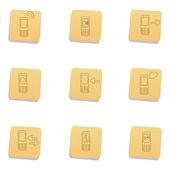 Sketchy communication icons — Stock Photo