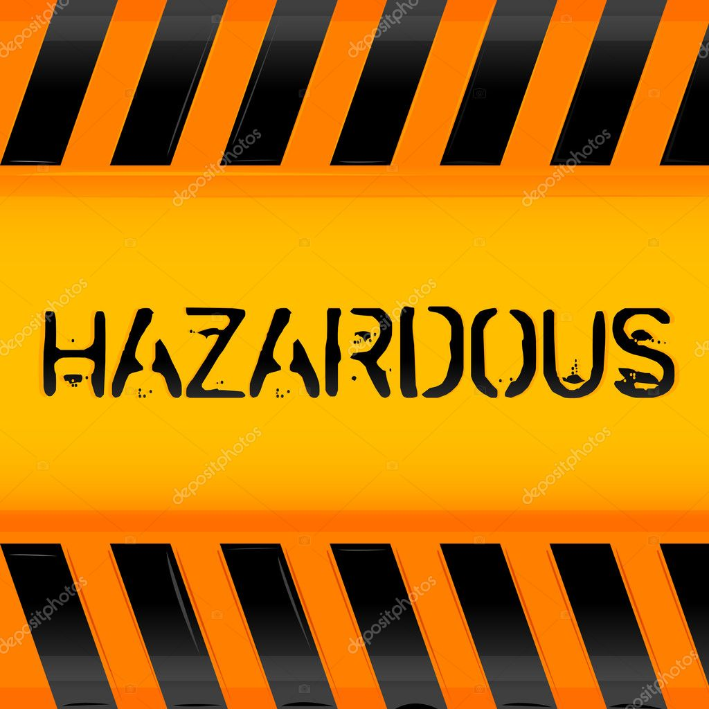 Illustration of hazardous icon — Stock Photo #4403348