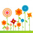 Vector background with flowers — Stockfoto #4419558
